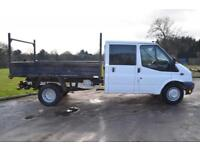 2011 FORD TRANSIT 2.4L DOUBLE CAB TIPPER 350 100 BHP DIESEL