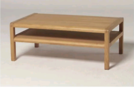 Habitat Radius Solid Oak Coffee Table TV unit with one shelf, Pristine
