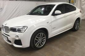 2015 WHITE BMW X4 3.0 XDRIVE30D M SPORT DIESEL AUTO COUPE CAR FINANCE FR £83 PW