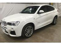 2015 WHITE BMW X4 3.0 XDRIVE30D M SPORT DIESEL AUTO COUPE CAR FINANCE FR £83 PW