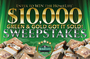 HomeLife Buyer's Promotion..........Green & Gold Got It Sold....