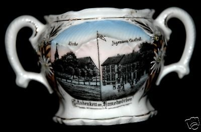 ANDENKEN AN KAMELWORDEN GERMANY CHINA BOWL CA 1910