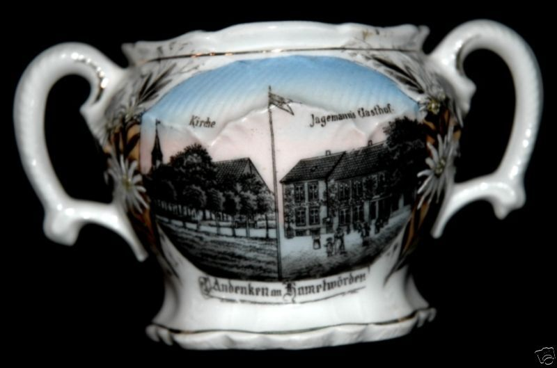 ANDENKEN AN KAMELWORDEN GERMANY CHINA BOWL CA 1910