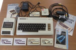 Vintage Commodore VIC-20 Computer with Games, Documentation