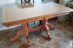 Mennonite Solid Oak Dining Table & Chairs - O.B.O.
