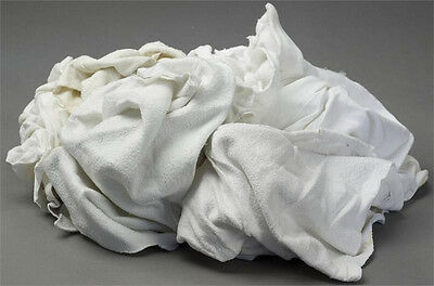 White Fleece Sweatshirt Rags 25lb Box