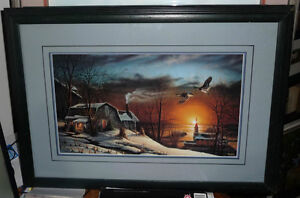 Terry Redlin, Sharing Season, 1985 Print, Gallery Framed