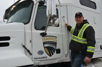 Canadian Highway Flat Deck truck driver