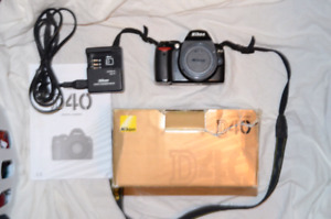 Nikon D40 with accessories.