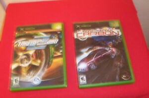 X BOX GAMES - NEED FOR SPEED CARBON & NEED FOR SPEED UNDERGROUND