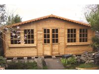 20ftx14ft georgian tyle log roll summerhouse with canopy