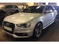 2014 SILVER AUDI A4 3.0 TDI 245 QUATTRO BLACK EDT SALOON CAR FINANCE FR £67 PW