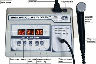 Home Portable Ultrasound Therapy 1mhz Digital 07 Fnd Relief Therapy Unit