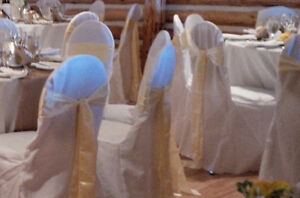 Wedding Decor - Butter Yellow Satin Chair Sashes