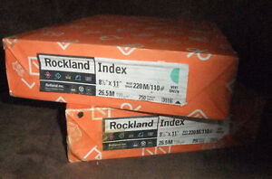 """Rockland Index Cardstock, 8 1/2"""" x 11"""", 110 lb., Smooth Finish, West Island Greater Montréal image 1"""