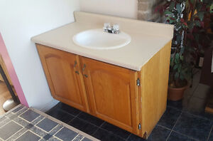 Single Vanity, New Sink, and Faucet