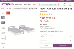 Two new white twin beds