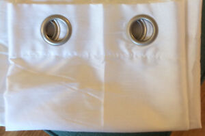 Pair of White curtains