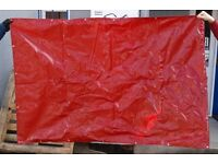 Red PVC Bondweave Welding Curtain Screen 6' x 4' Only £12.50 Collect Safety Surplus B63 3SW