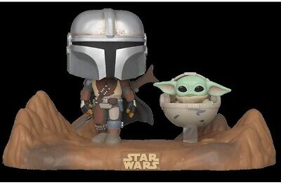 Funko Pop Star Wars Movie Moment The Mandalorian And Child Presell