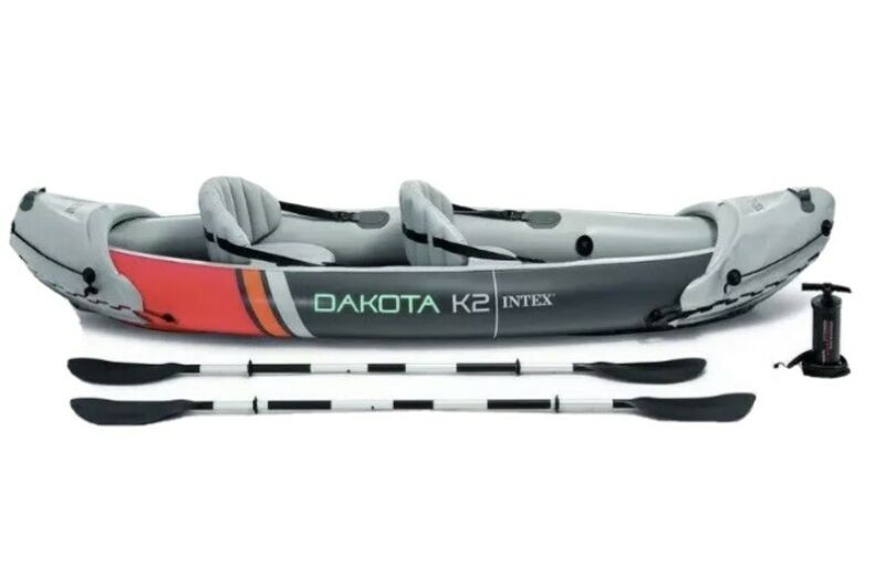 Intex Dakota K2- 2 Person Heavy Duty Vinyl Inflatable Kayak 68310VM -New in box