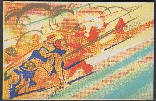wq9 Japanse Militaristic propaganda 1930s Matchbox Label assault soldiers