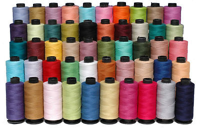 New 50 x Spools Large 100% Pure Cotton Sewing Thread Yards Assorted All Purpose