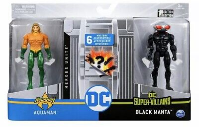 DC Universe 2-Figure DC Comics 4-Inch Aquaman Black Manta Battle Pack #6056932