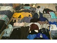 56 items of womens clothes, approx all size 8, + hats, scarves ,shoes etc