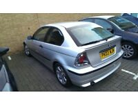 BMW 3 series 316 compact silver 2003 1.8