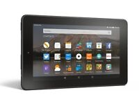 """Amazon 10"""" Tablet with Faux Leather cover. Unwanted gift."""