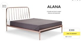 Made com Alana Copper Double Bed Frame New + Boxed RRP £399 - Selling for £300 ono