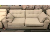 DFS fabric 3 seater sofa and Armchair