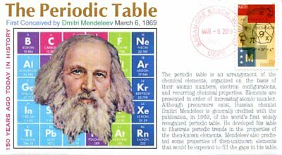 COVERSCAPE computer designed 150th anniversary of The Periodic Table event cover for sale  Shipping to India