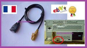 Cable AUX USB POUR SEAT SKODA VW RCD510 - AUTORADIO ORIGINE - France - État : Neuf: Objet neuf et intact, n'ayant jamais servi, non ouvert, vendu dans son emballage d'origine (lorsqu'il y en a un). L'emballage doit tre le mme que celui de l'objet vendu en magasin, sauf si l'objet a été emballé par le fabricant d - France