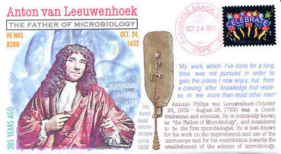 COVERSCAPE computer generated 385th of the birth of Anton van Leeuwenhoek cover