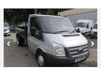 Silver Ford Transit Tipper