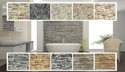 Holz Stein P+S Papiertapete Mauer Wand Holzoptik in 12 verschiedenen Designs