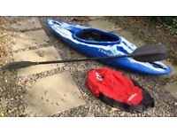 Dagger dynamo Kayak complete with spray deck and paddle