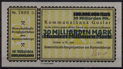 [10583] - NOTGELD GOSLAR, Gemeinschafts-Berginspektion am Rammelsberg(e), 30 Mrd