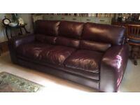 Top of the range Natuzzi Italian leather sofa, barker & stonehouse
