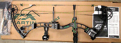 Martin Archery Afflictor BLACK 60# RH Compound Bow Package Ready To Hunt 4