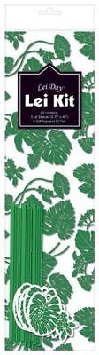 Hawaiian Lei Making Kit for 5 Candy Lei - Monstera Green