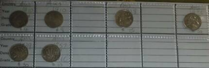 Australia silver coins threepence collection 1910, etc Dianella Stirling Area Preview