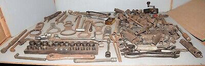 Antique mechanic tool lot Ford Model T garage collectible sockets wrenches 60 #