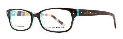 Kate Spade eyeglasses Lucyann c.0X77 in Two Tone Tortoise on Aqua Stripe (New Look Eyeglasses)