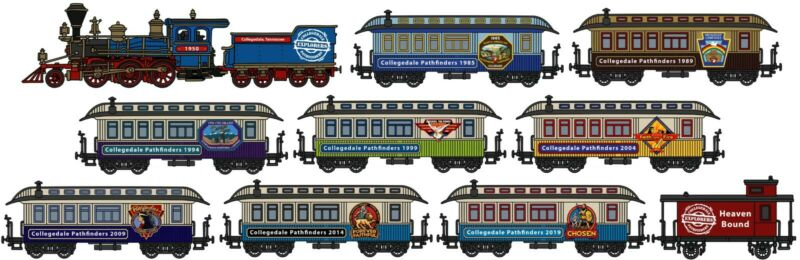 Collegedale Pathfinder Chosen Oshkosh Camporee Train Pin Set 2019