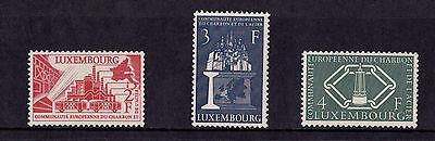 Luxembourg - 1956 European Coal & Steel Community - Mtd Mint - SG 606-8