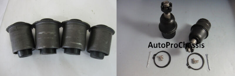 2 FRONT LOWER BALL JOINT 4 FRONT LOWER CONTROL ARM BUSHING DODGE DURANGO 04-09