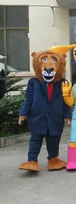 Animals Mayor of the Lion Mascot Costume Suit Cosplay Party Dress Outfit Adults](Mayor Costume)